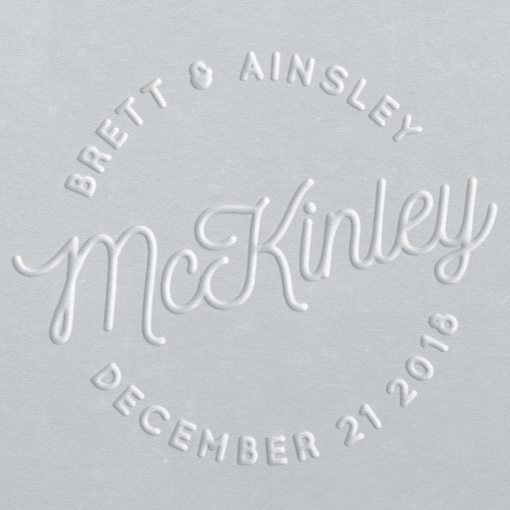 Embosser - McKinley Save the Date