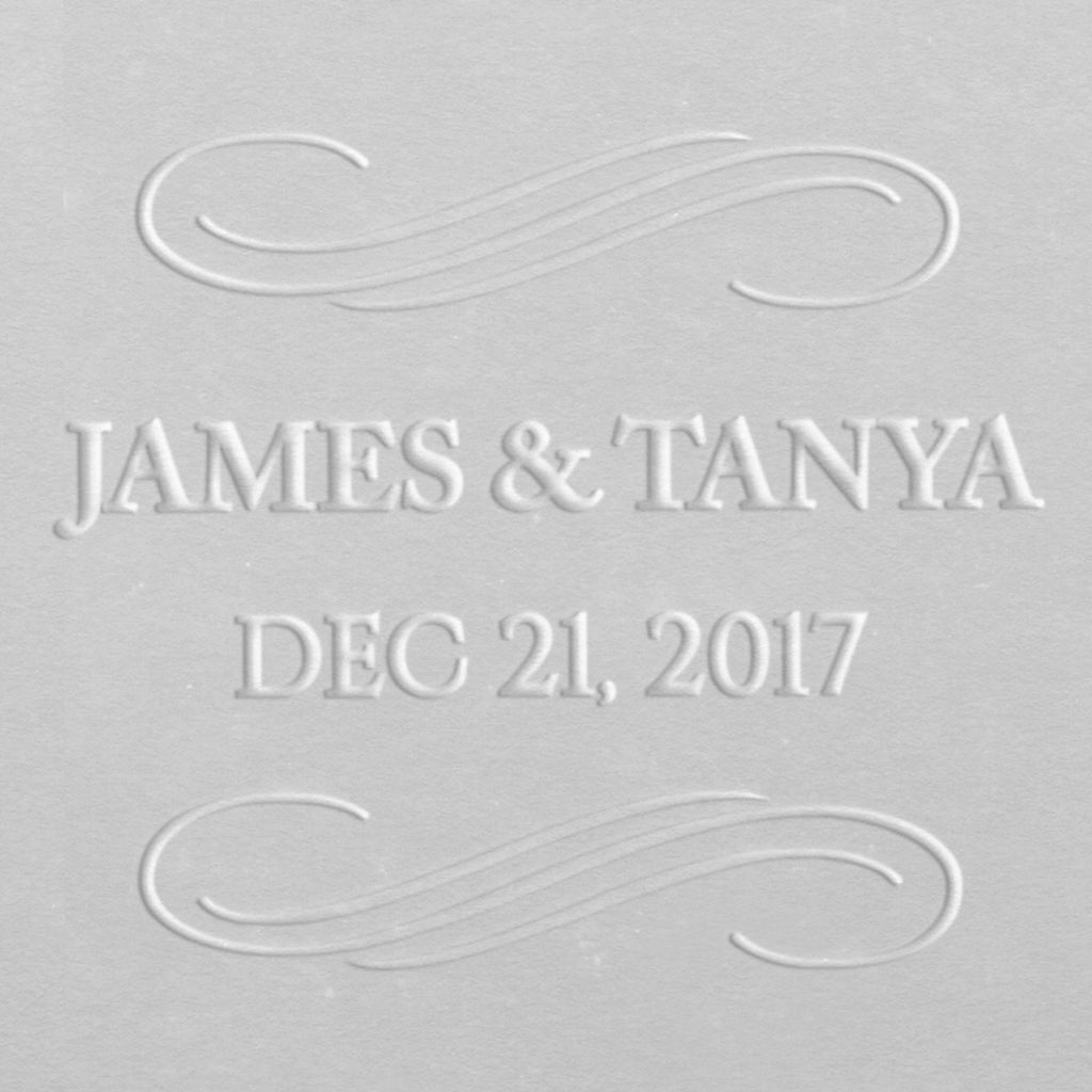 Embosser - Elegant Swirls Save the Date
