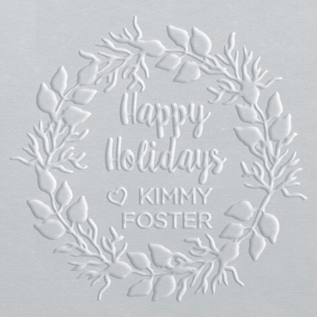 Embosser - Happy Holidays Wreath