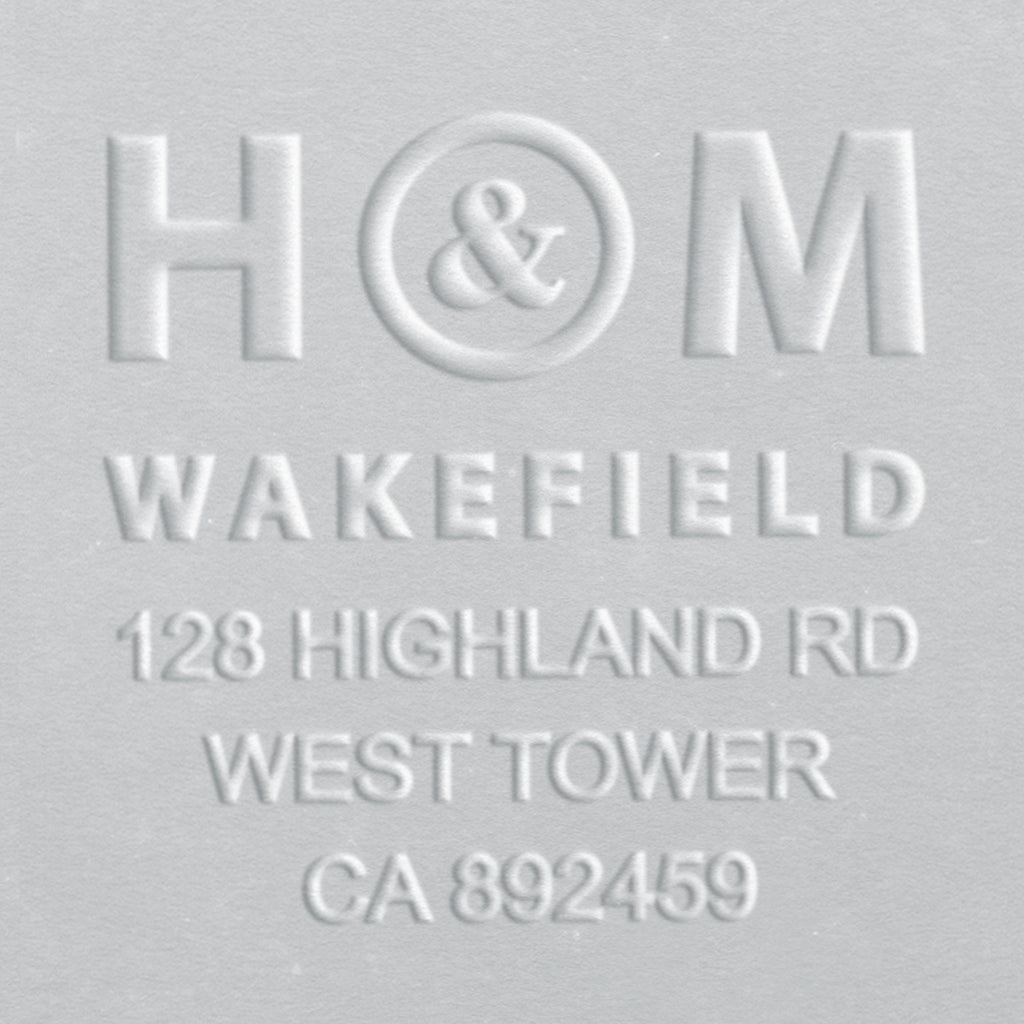 Address Embosser - Initials & Name