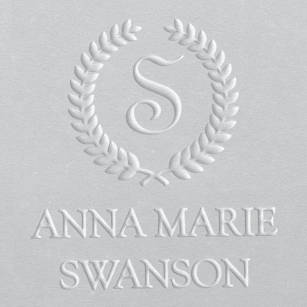 Embosser - Laurel Wreath Initial and Name