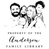 Book Stamp - Anderson Family Photo