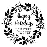 Stamp - Happy Holidays Wreath