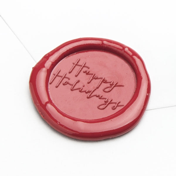 Wax Seal - Happy Holidays Script