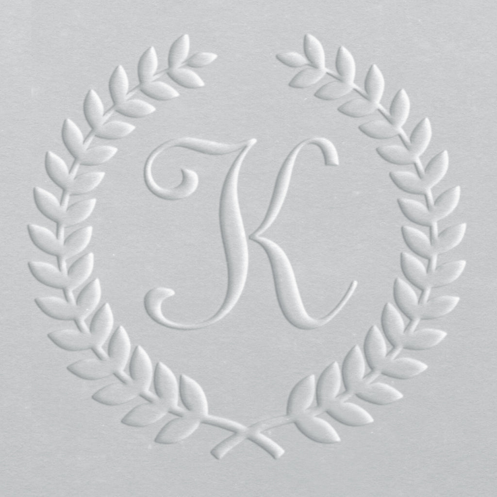 Embosser - Laurel Wreath Initial