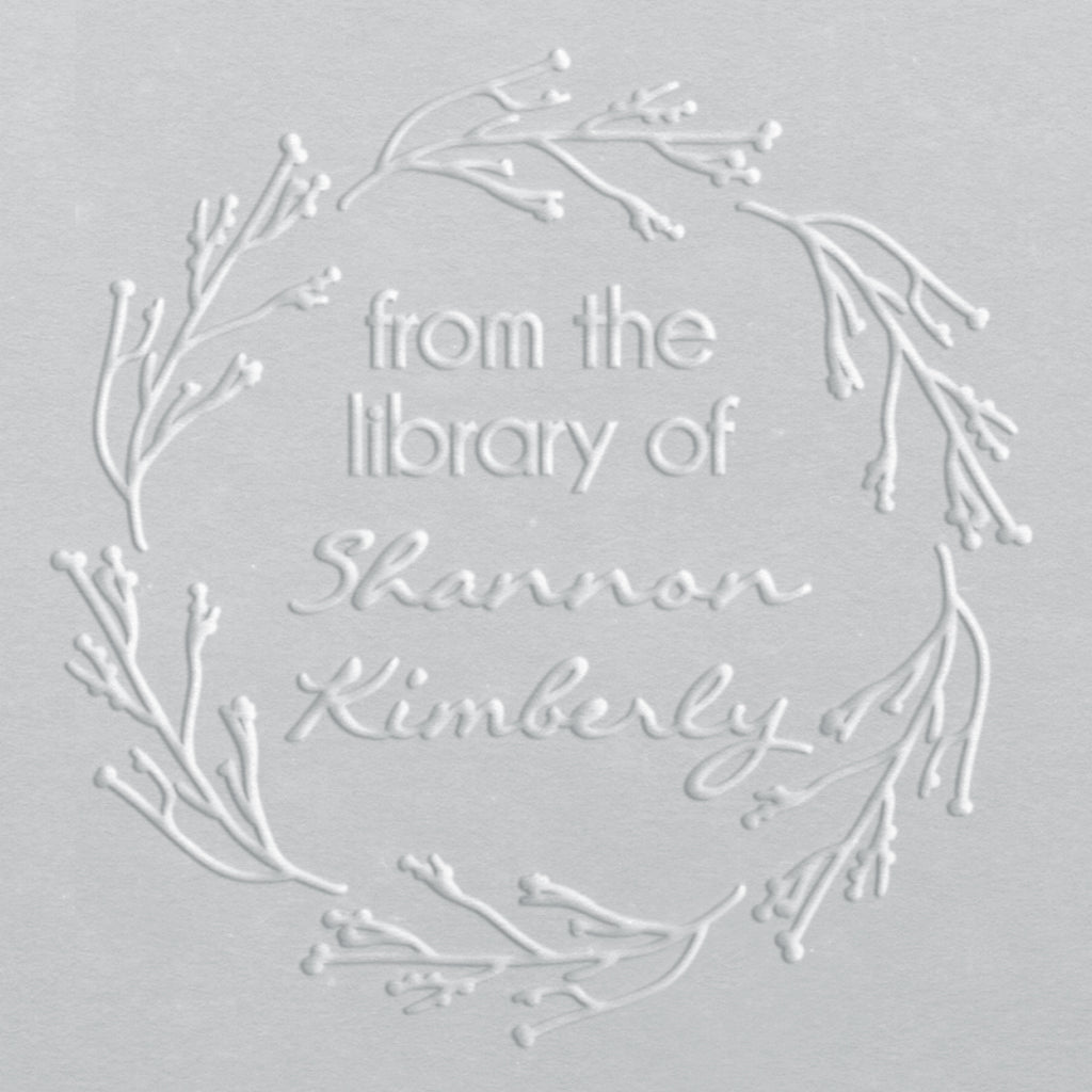 Book Embosser - Shannon Wreath