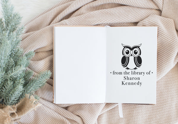 Book Stamp - Owl