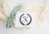Stamp - Wreath Initial