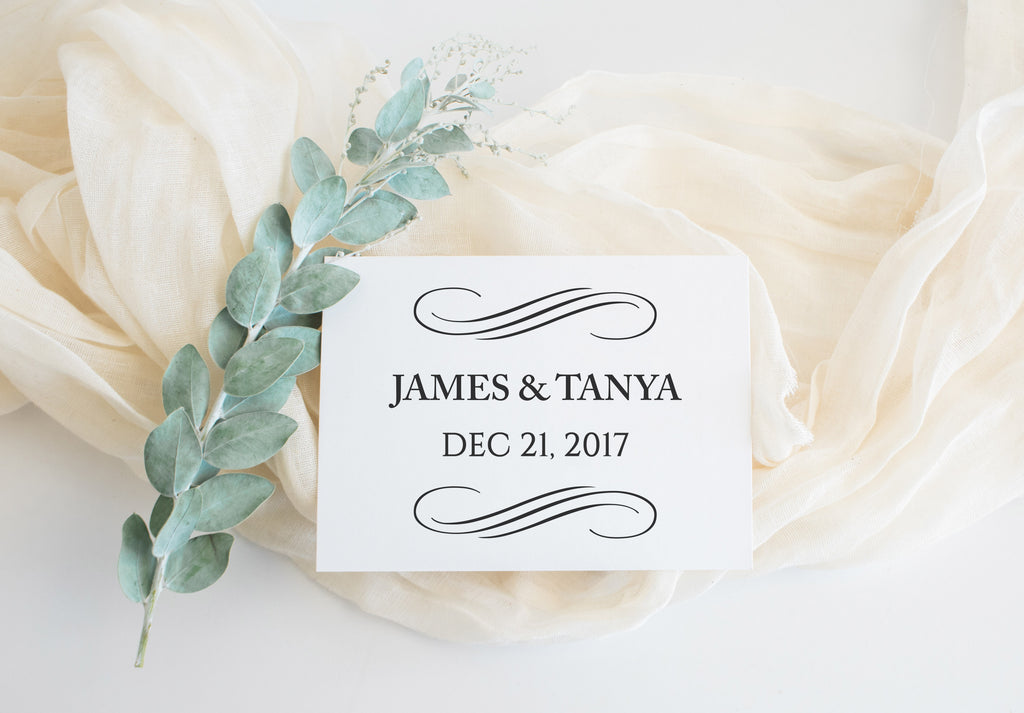 Stamp - Swirls Save The Date