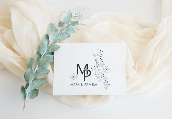 Stamp - Floral Initials
