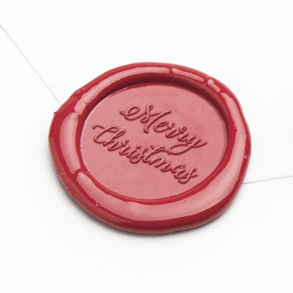 Wax Seal - Merry Christmas Script
