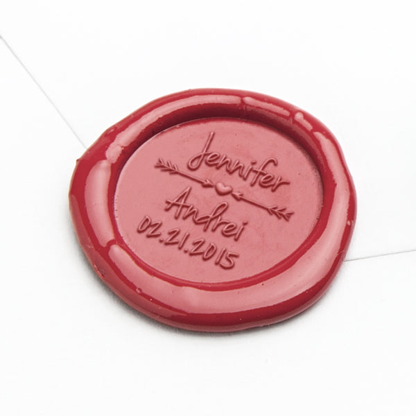 Wax Seal - Heart and Arrows Save the Date
