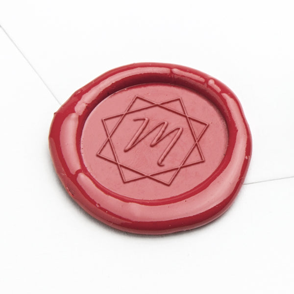Wax Seal - Geometric Initial