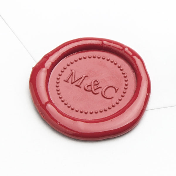 Wax Seal - Dotted Circle Monogram