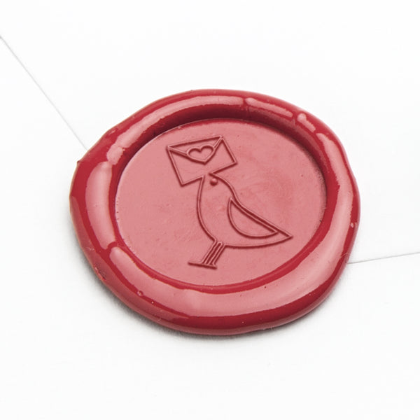 Wax Seal - Bird with Letter