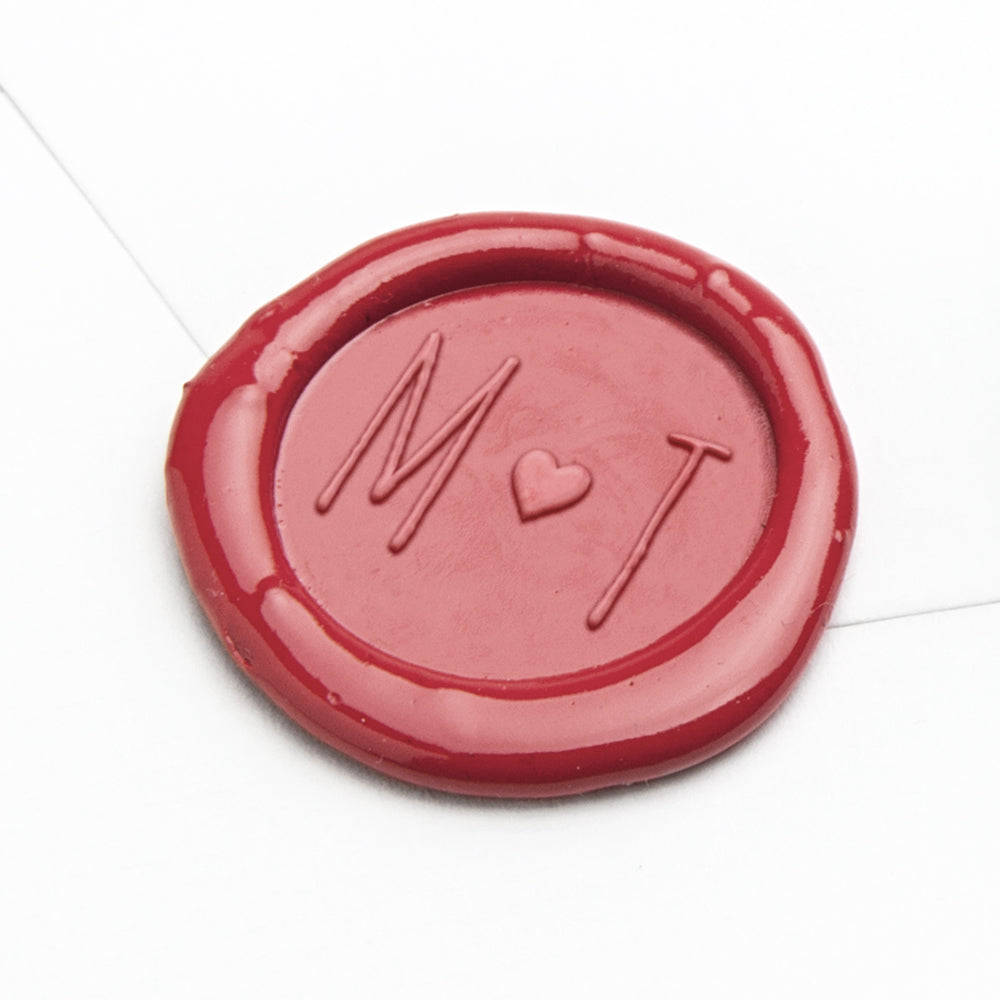 Wax Seal - Heart Two Initials