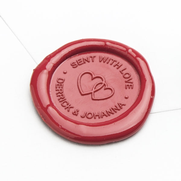 Wax Seal - Entwined Hearts