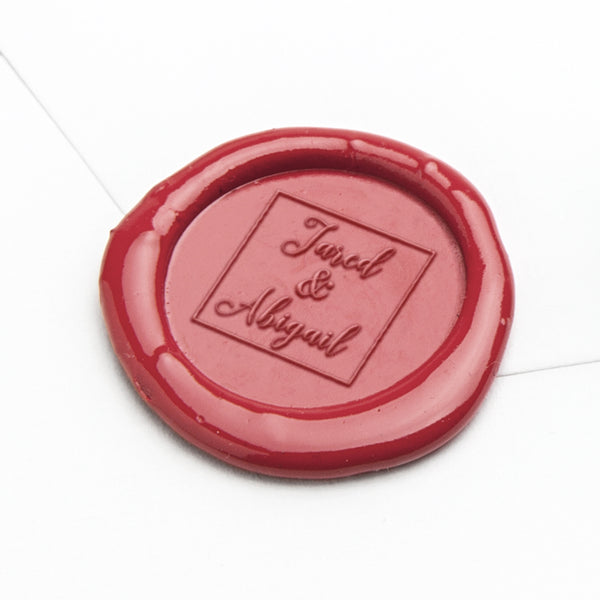 Wax Seal - Names in Square