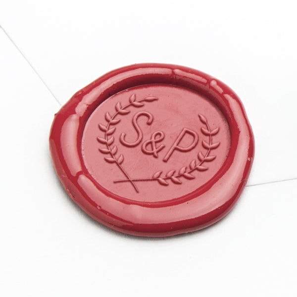 Wax Seal - Laurel Initials