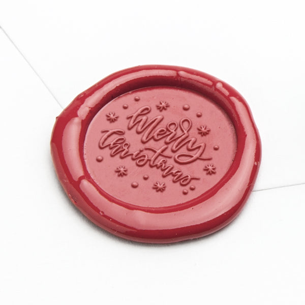 Wax Seal - Merry Christmas Snowflakes