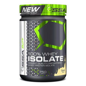 100% Whey Isolate [750g] Whey Isolate SSA Supplements Vanilla Cream