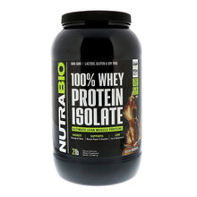 Load image into Gallery viewer, 100% Whey Protein Isolate [907g] Whey Isolate NutraBio Dutch Chocolate