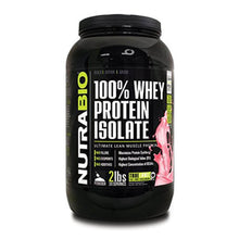 Load image into Gallery viewer, 100% Whey Protein Isolate [907g] Whey Isolate NutraBio Wild Strawberry