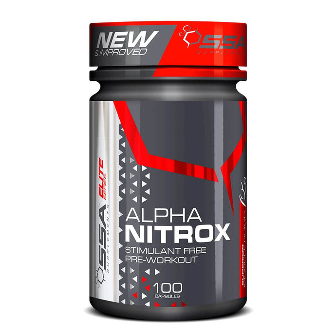 Alpha Nitrox [100 Caps] Nitric Oxide Booster SSA Supplements