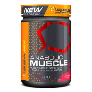 Anabolic Muscle Stack [905g] Mass Gainer SSA Supplements Strawberry Sundae