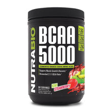 Load image into Gallery viewer, BCAA 5000 [385g] Amino Blend NutraBio Kiwi Strawberry