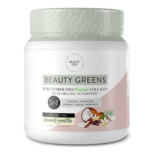 Beauty Greens [450g] - Coconut Vanilla Superfood Beauty Gen