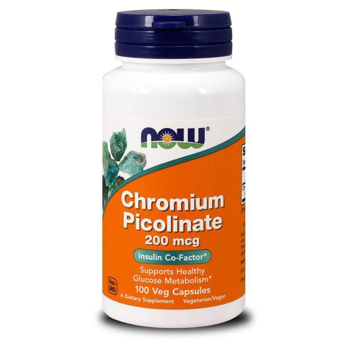 Chromium Picolinate 200mcg [100 Caps] General Health NOW Foods
