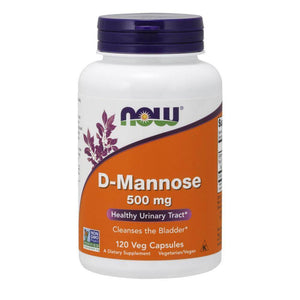 D-Mannose 500mg [120 Caps] General Health NOW Foods
