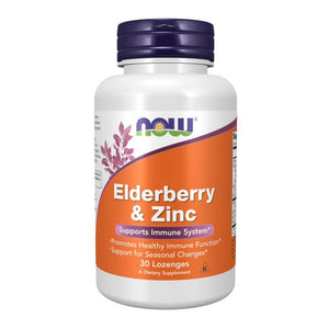 Elderberry & Zinc [30 Lozenges] General Health NOW Foods