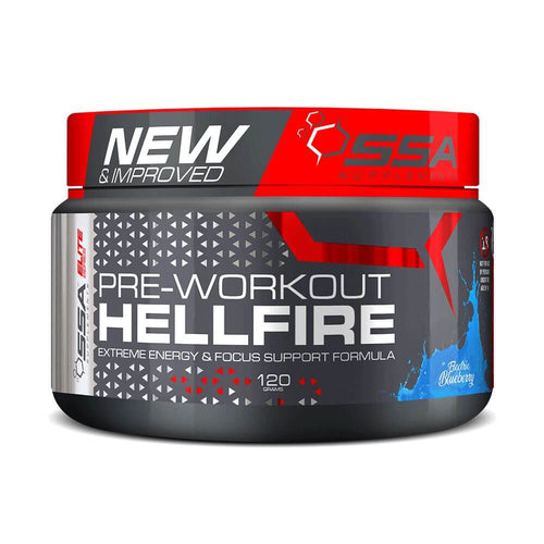 HellFire [120g] Stimulant Based Pre-Workout SSA Supplements Electric Blueberry