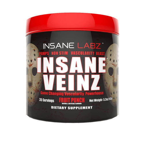 Insane Veinz [145g] Nitric Oxide Booster Insane Labz Fruit Punch