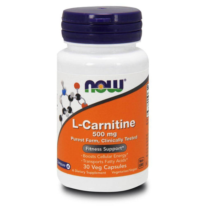 L-Carnitine 500mg [30 Caps] Carnitine NOW Foods