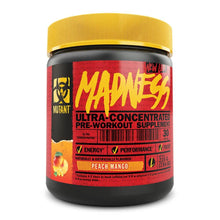 Load image into Gallery viewer, Madness [225g] Stimulant Based Pre-Workout Mutant Peach Mango