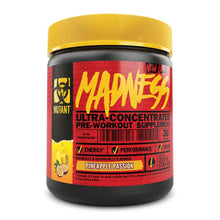 Load image into Gallery viewer, Madness [225g] Stimulant Based Pre-Workout Mutant Pineapple Passion