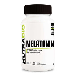 Melatonin 3mg [120 Caps] Sleep Aid NutraBio