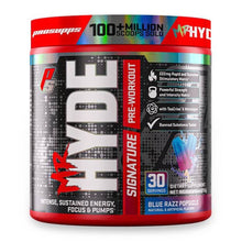Load image into Gallery viewer, Mr Hyde Signature [216g] Stimulant Based Pre-Workout ProSupps Blue Razz Popsicle