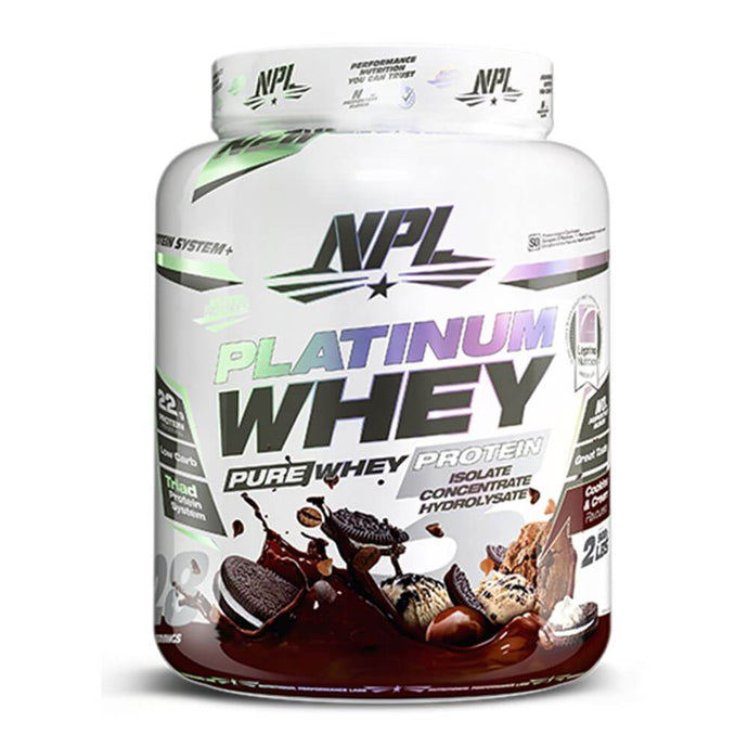 Platinum Whey [908g] Whey Blend NPL Cookies & Cream