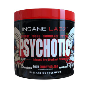 Psychotic [215g] Stimulant Based Pre-Workout Insane Labz Sour Cherry Colada