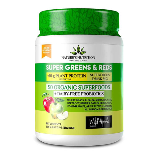 Super Greens & Reds [500g] Superfood Natures Nutrition Wild Apple