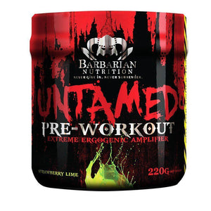 Untamed [220g] Stimulant Based Pre-Workout Barbarian Nutrition Strawberry Lime