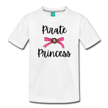 "Load image into Gallery viewer, ""Libby"" Pirate Princess Soft Toddler T-Shirt - white"