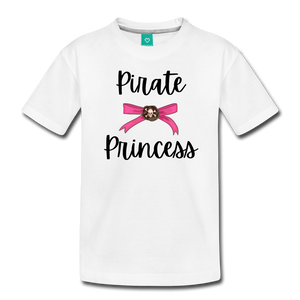 """Libby"" Pirate Princess Soft Toddler T-Shirt - white"