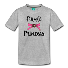 "Load image into Gallery viewer, ""Libby"" Pirate Princess Soft Toddler T-Shirt - heather gray"
