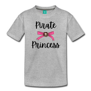 """Libby"" Pirate Princess Soft Toddler T-Shirt - heather gray"