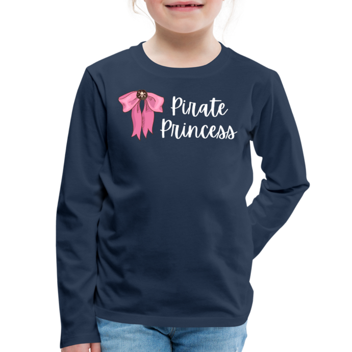 FINAL VERSION Kids' Premium Long Sleeve T-Shirt - navy